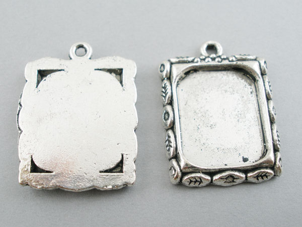 10 x silver picture frame pendants 22x19mm mozeypictures Gallery