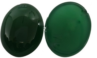 1 20 x 15 x 5mm Green Agate Cabochon