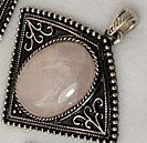 1 Quartz Pendant, with Bail. 57×53×9~10mm, Hole: 7mm
