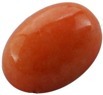 1 x 20 x 15 x 5mm Orange Agate Cabochon
