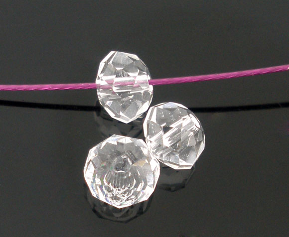 100 Clear Crystal Faceted Rondelle Beads 4mm