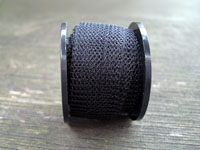 "12"" of Black Colored Knitted Wire"