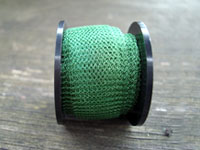 "12 "" of Green Knitted Wire"