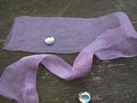 "12"" of Lilac Knitted Wire"