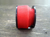 "12"" of Red Knitted Wire"