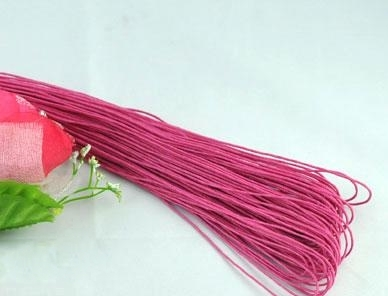80M x1mm of Fuchsia Waxed Cord