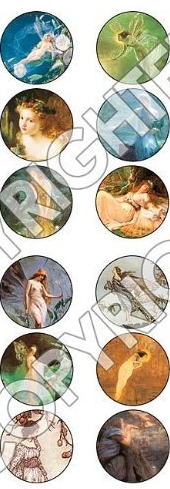 Beadsmith Mermaid Circles Collage Sheet